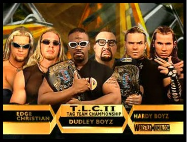 The hardyz vs the dudleyz vs edge and christian in tlc ii for the